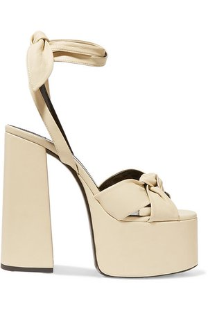Saint Laurent | Paige leather platform sandals | NET-A-PORTER.COM