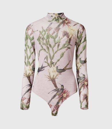 ALLSAINTS US: Womens Nolina Elia Bodysuit (plaster_pink)