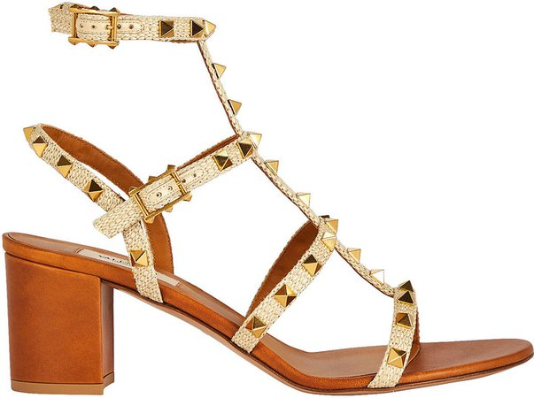 Rockstud Gladiator Heeled Sandals