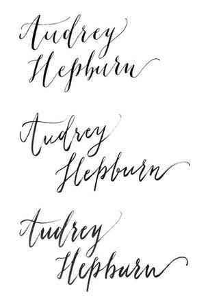 오드리 헵번 Audrey Hepburn 모던 영문 캘리그라피 : 네이버 블로그