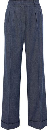 Vivy Pleated Wool-twill Wide-leg Pants