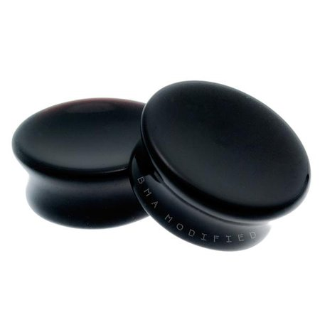 Black Onyx Mayan Flare Concave Plugs (6mm-51mm) | BMA MODIFIED