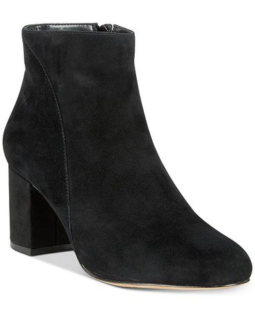 INC International Concepts INC Floriann Block-Heel Ankle Booties, Created for Macy's & Reviews - Boots & Booties - Shoes - Macy's