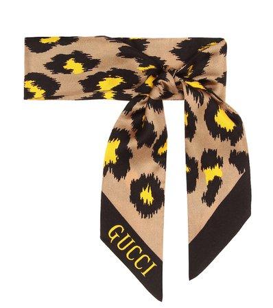 Printed Silk Scarf   Gucci - Mytheresa