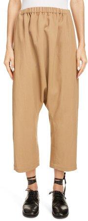 Sarouel Wool Blend Twill Pants