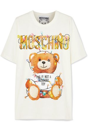 Moschino | Oversized printed stretch-cotton jersey T-shirt | NET-A-PORTER.COM