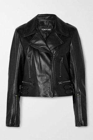 Black Leather biker jacket | TOM FORD | NET-A-PORTER