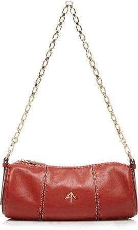 Manu Cylinder Leather Shoulder Bag