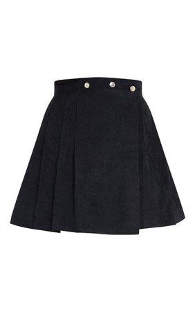 Camel Cord Skater Skirt | Skirts | PrettyLittleThing