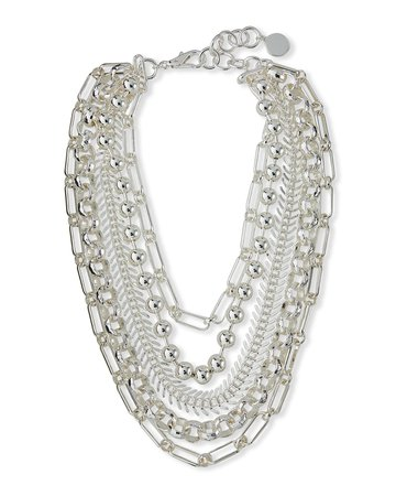 NEST Jewelry Silver Chain Layered Necklace