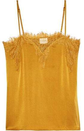 The Sweetheart Chantilly Lace-trimmed Silk-charmeuse Camisole