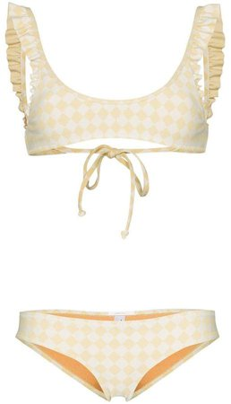 Made By Dawn Petal scoop neck bikini set