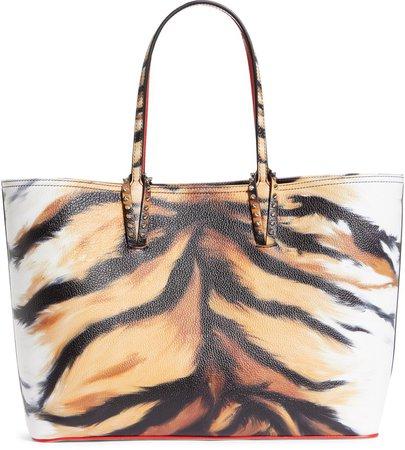 Cabata Tiger Print Leather Tote
