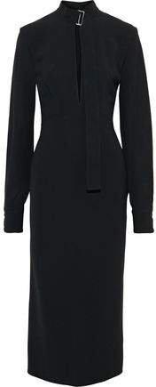 Cutout Stretch-cady Midi Dress