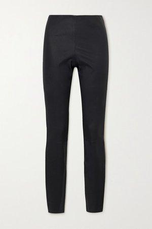 Elenasoo Leather Leggings - Gray