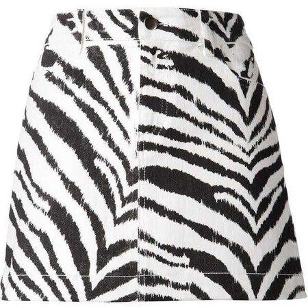 Emanuel Ungaro zebra print mini skirt ($440)