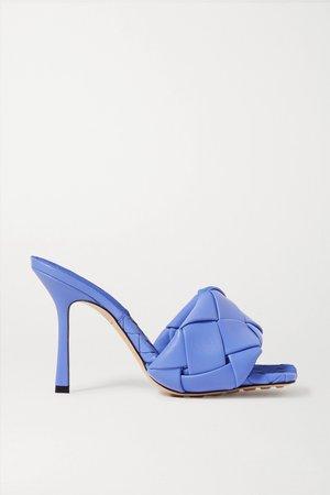 Royal blue Intrecciato leather mules   Bottega Veneta   NET-A-PORTER