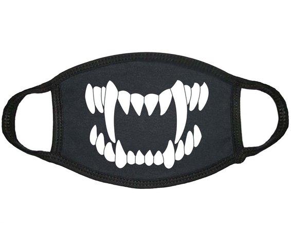 Monster Scary Creepy Vampire Long Teeth Face Mask Cover Cosplay Custom