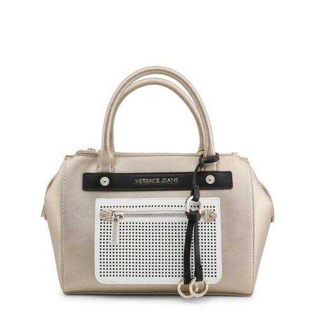 Holdalls & Weekend Bags | Shop Women's Versace Jeans Brown Leather Handbag at Fashiontage | E1VRBBU4_70052_M12-Brown-NOSIZE