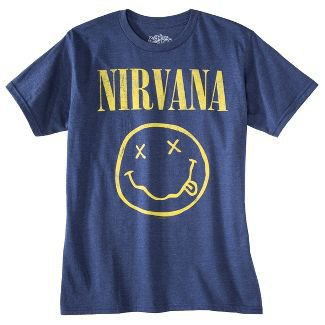 Men's Nirvana Short Sleeve Graphic T-Shirt - Denim Heather : Target