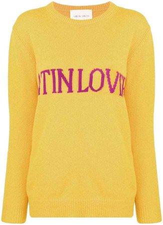Alberta Ferretti Latin Love intarsia jumper