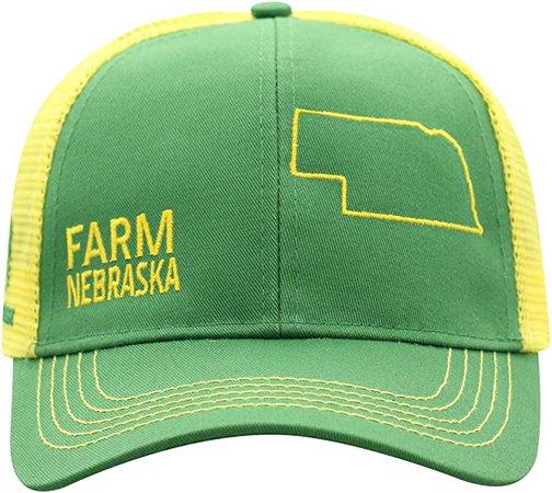 John Deere Farm State Pride Cap-Green and Yellow-Nebraska at Amazon Men's Clothing store