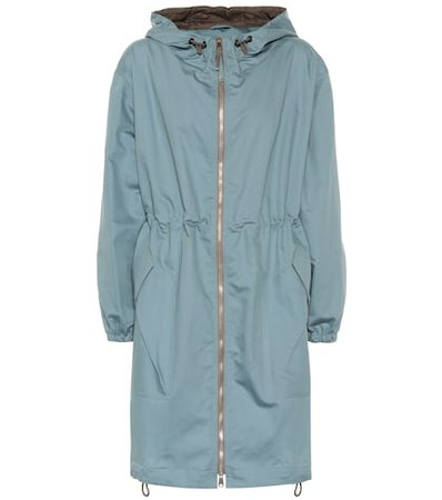 Cotton and silk parka
