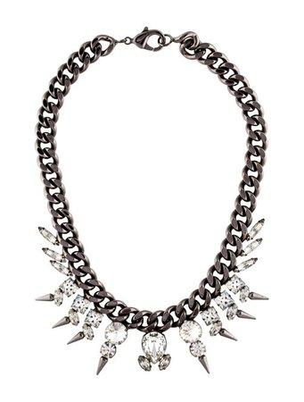Fallon Classique Micro Spike Choker Necklace - Necklaces - FAL20482 | The RealReal