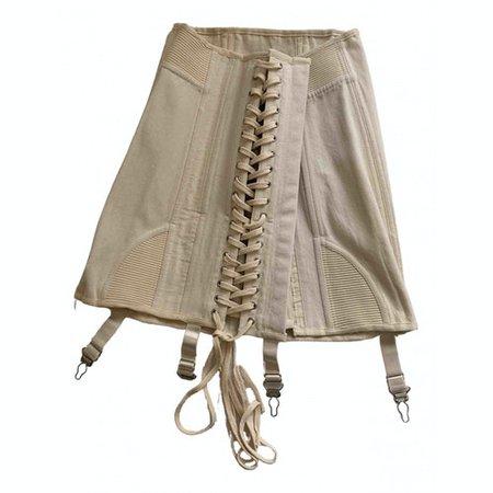 Mini skirt Orseund Iris White size S International in Cotton - 12290286