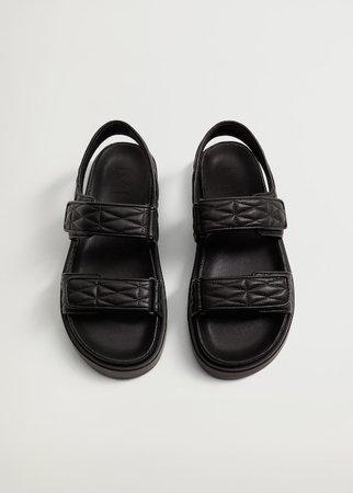Quilted strap sandals - Women | Mango USA