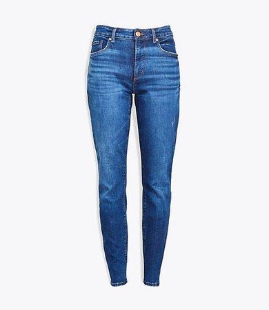 Curvy Skinny Jeans in Rich Authentic Indigo Wash