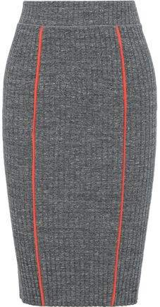 Pak Melange Ribbed Cotton-blend Pencil Skirt