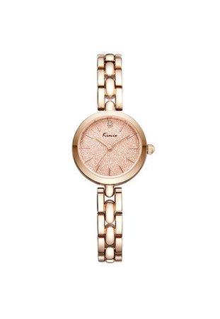 Rose Quartz Gold Watch