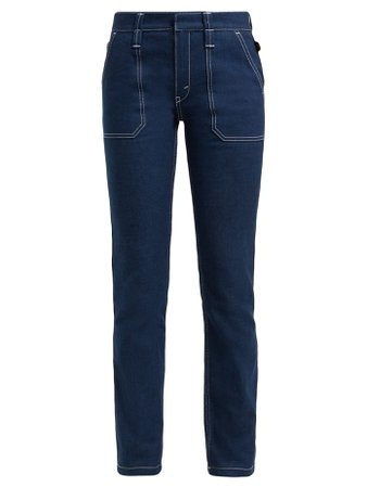 Contrast-stitch stretch-denim jeans | Chloé | MATCHESFASHION.COM