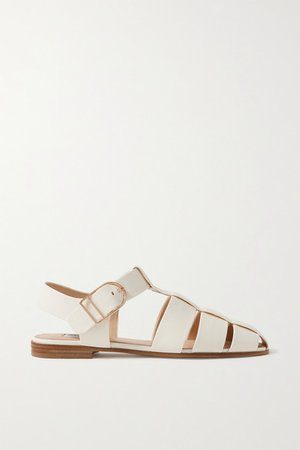 Lynn Leather Sandals - Off-white