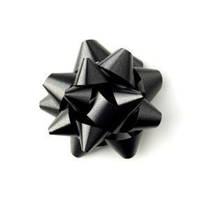 Black Star Bows - Black gift Bows-Black self-adhesive bows – Hallons