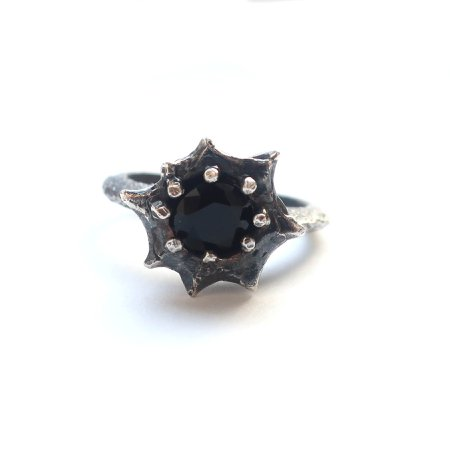 Star Burst Ring with Onyx – Mary Gallagher