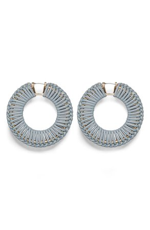 Vince Camuto Leather Wrapped Hoop Earrings | Nordstrom