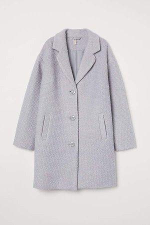 Wool-blend Coat - Gray