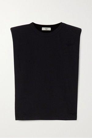 Black Eva cotton-jersey tank | Frankie Shop | NET-A-PORTER
