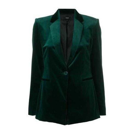 THEORY Green Velvet Blazer ($631)