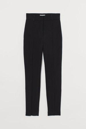 Zip-hem Pants - Black