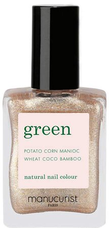 Green Nail Lacquer - Gold