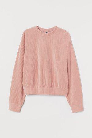 Cotton-blend Sweatshirt - Pink