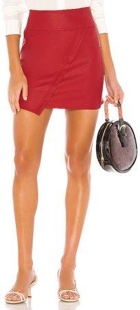 X REVOLVE Vegan Leather Wrap Skirt