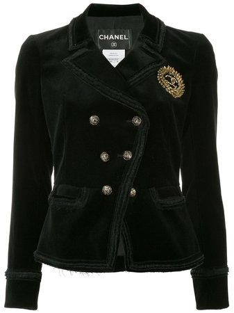 Chanel Pre-Owned Double Breasted Jacket Vintage   Farfetch.Com