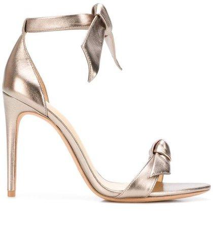 bow upper stiletto sandals