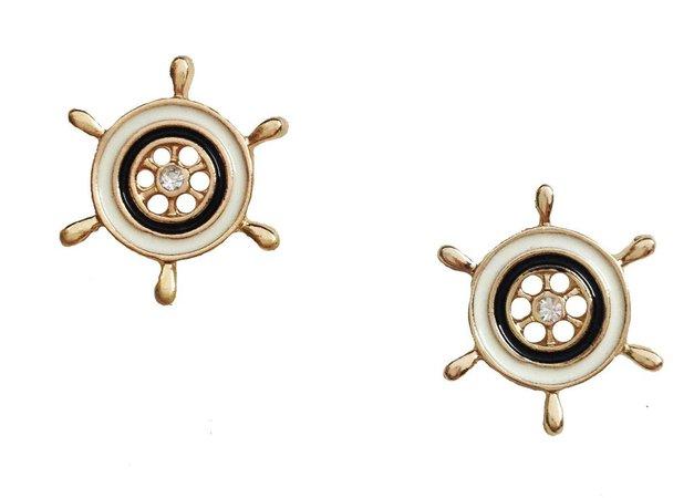 Nautical Ship Wheel Studs – Jewel Candy