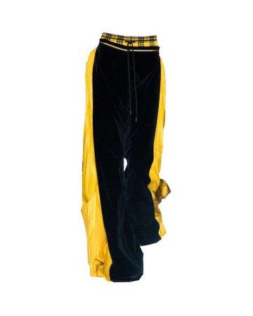 black and yellow pants