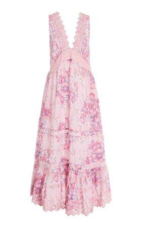 Oakley Lace-Trimmed Floral Cotton Maxi Dress By Loveshackfancy | Moda Operandi